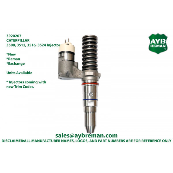 3920207 Injector for Caterpillar 3506 3508 3512 3516 3524 Engine