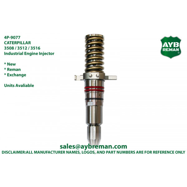 4P9077 Injector for Caterpillar 3508 3512 3516 Engine