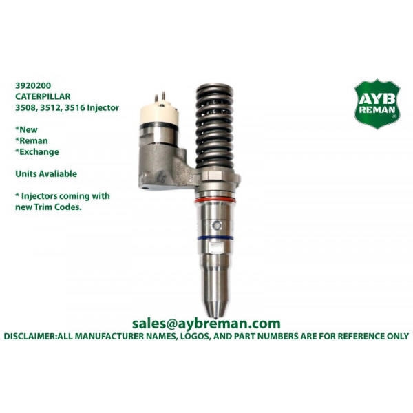 3920200 Injector for Caterpillar 3508 3512 3516 3524 Engine